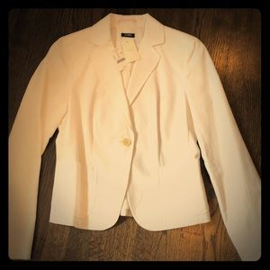 White J.Crew suit jacket